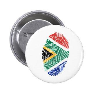 Bandera surafricana de la huella dactilar del pin redondo de 2 pulgadas