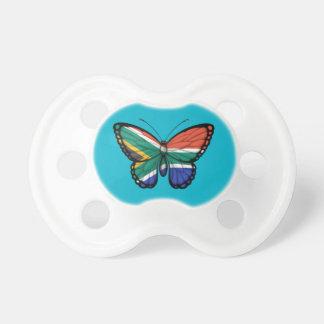 Bandera surafricana de la mariposa chupete de bebe