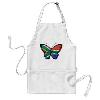 Bandera surafricana de la mariposa delantal