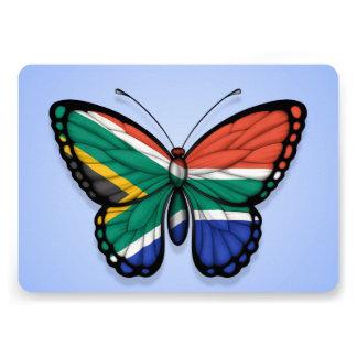 Bandera surafricana de la mariposa en azul comunicado