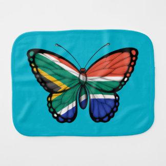 Bandera surafricana de la mariposa paños de bebé
