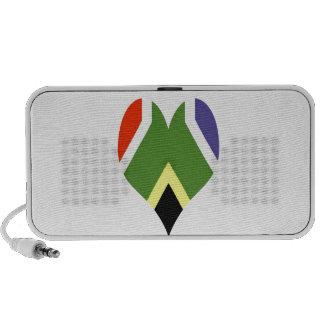 Bandera surafricana de la paz iPod altavoces