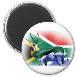 Bandera surafricana de Springbock Iman De Frigorífico