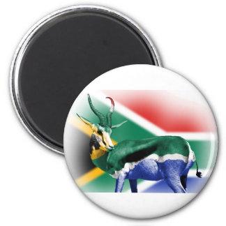 Bandera surafricana de Springbock Imán Redondo 5 Cm