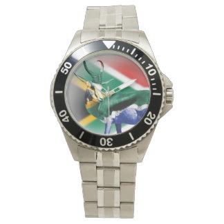 Bandera surafricana de Springbock Reloj De Mano