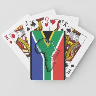 Bandera surafricana en África patriótica Barajas De Cartas