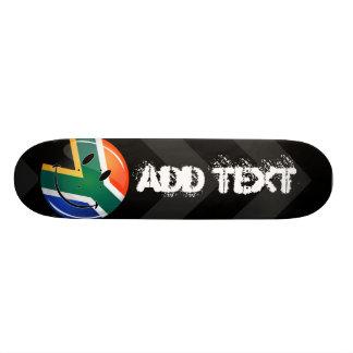"Bandera surafricana feliz redonda brillante patineta 7 1/8"""