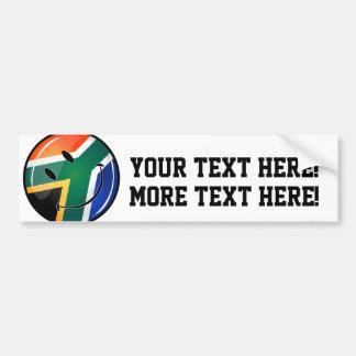 Bandera surafricana feliz redonda brillante pegatina para auto