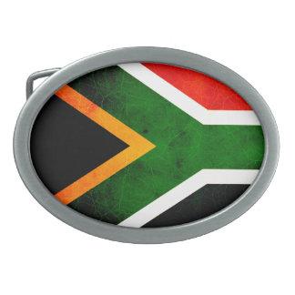 Bandera surafricana nerviosa moderna hebillas de cinturón ovales