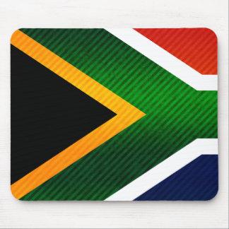 Bandera surafricana pelada moderna tapetes de raton
