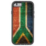 Bandera surafricana rasguñada y llevada del funda de iPhone 6 tough xtreme