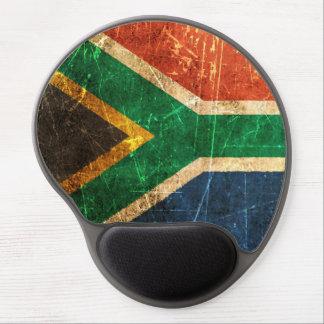 Bandera surafricana rasguñada y llevada del vintag alfombrilla gel