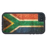Bandera surafricana rasguñada y llevada del vintag iPhone 5 cárcasa