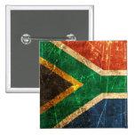 Bandera surafricana rasguñada y llevada del vintag pin