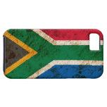 Bandera surafricana rugosa iPhone 5 Case-Mate cárcasas