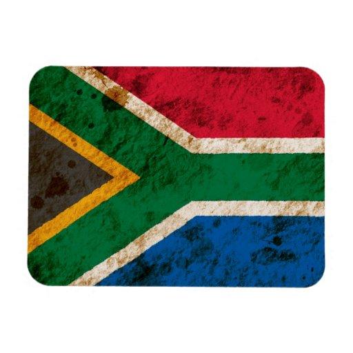 Bandera surafricana rugosa imán flexible