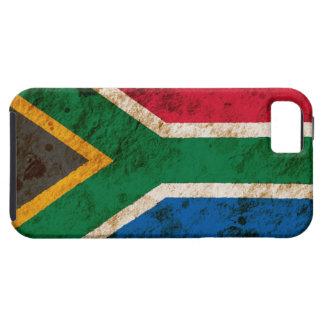 Bandera surafricana rugosa iPhone 5 carcasa