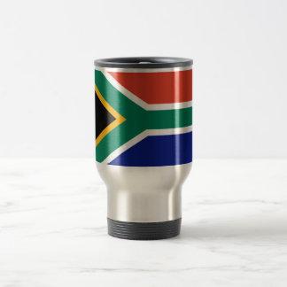 Bandera surafricana taza de viaje