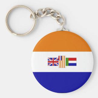 Bandera surafricana vieja llavero redondo tipo pin