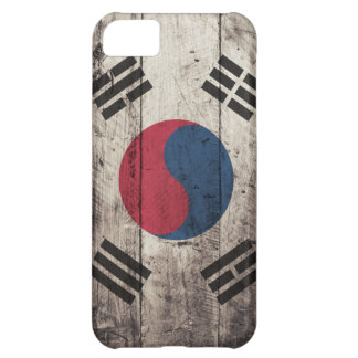 Bandera surcoreana de madera vieja