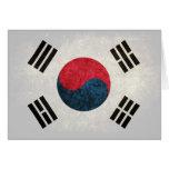 Bandera surcoreana felicitacion
