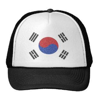 Bandera surcoreana gorras