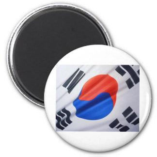 Bandera surcoreana imán redondo 5 cm