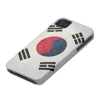 Bandera surcoreana iPhone 4 Case-Mate coberturas