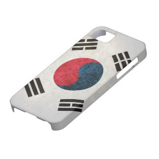 Bandera surcoreana iPhone 5 cárcasa