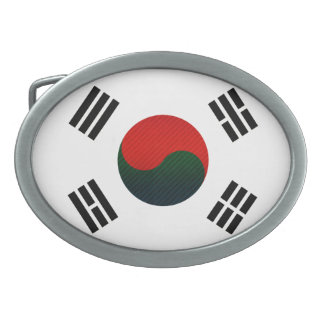 Bandera surcoreana pelada moderna hebillas de cinturon