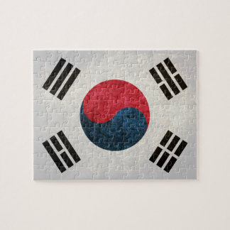 Bandera surcoreana puzzles