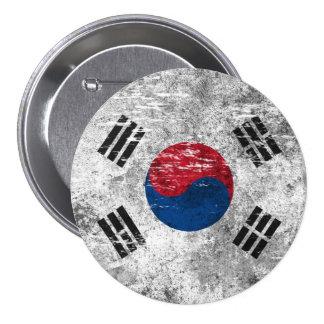 Bandera surcoreana rascada y llevada pin