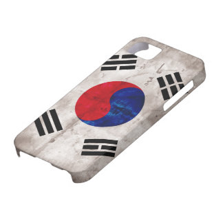 Bandera surcoreana resistida iPhone 5 funda