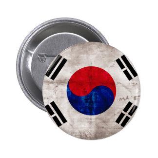 Bandera surcoreana resistida pin