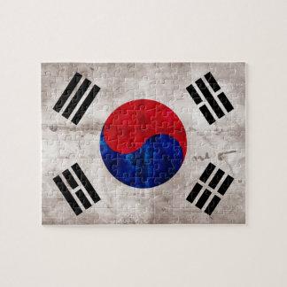 Bandera surcoreana resistida puzzle