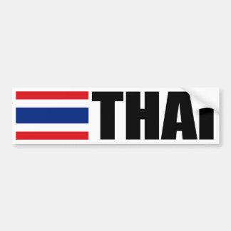 Bandera tailandesa etiqueta de parachoque