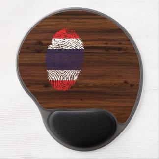 Bandera tailandesa de la huella dactilar del tacto alfombrilla de raton con gel