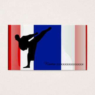 Bandera tailandesa del arte marcial tarjetas de visita