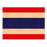 Bandera tailandesa del modelo del vintage tarjetas postales