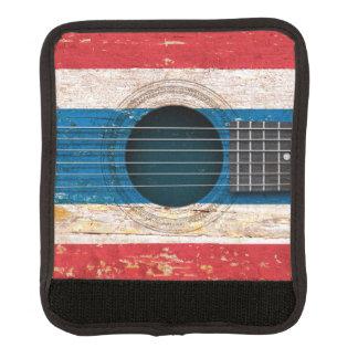 Bandera tailandesa en la guitarra acústica vieja funda para asa de maleta