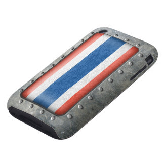 Bandera tailandesa industrial carcasa though para iPhone 3