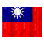 Bandera taiwanesa de madera postales