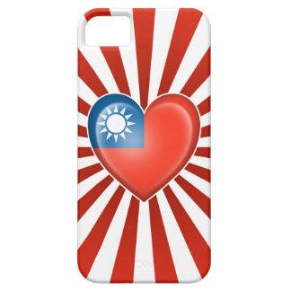 Bandera taiwanesa del corazón con la explosión de  iPhone 5 carcasas