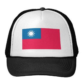 Bandera taiwanesa gorras