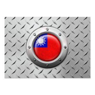 Bandera taiwanesa industrial con el gráfico de invitacion personal