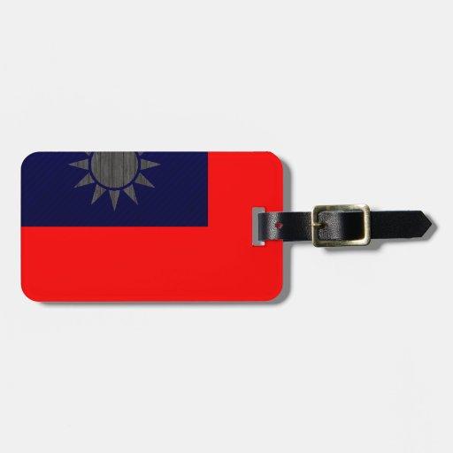 Bandera taiwanesa pelada moderna etiquetas para equipaje