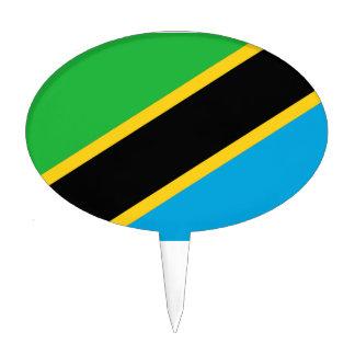 Bandera tanzana figura para tarta