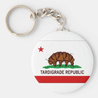 Bandera tardígrada de la república llavero redondo tipo pin
