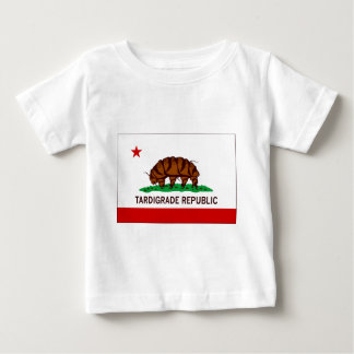 Bandera tardígrada de la república camiseta
