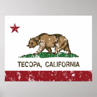 Bandera Tecopa de la república de California Posters